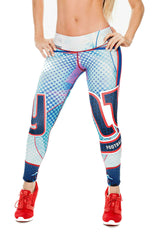 Fiber - New York Giants Leggings - Roni Taylor Fit  - 1