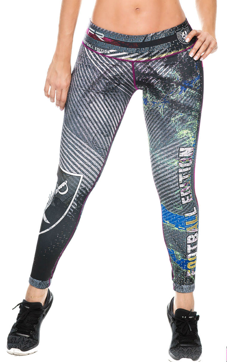 Fiber - Oakland Raiders Leggings - Roni Taylor Fit  - 1