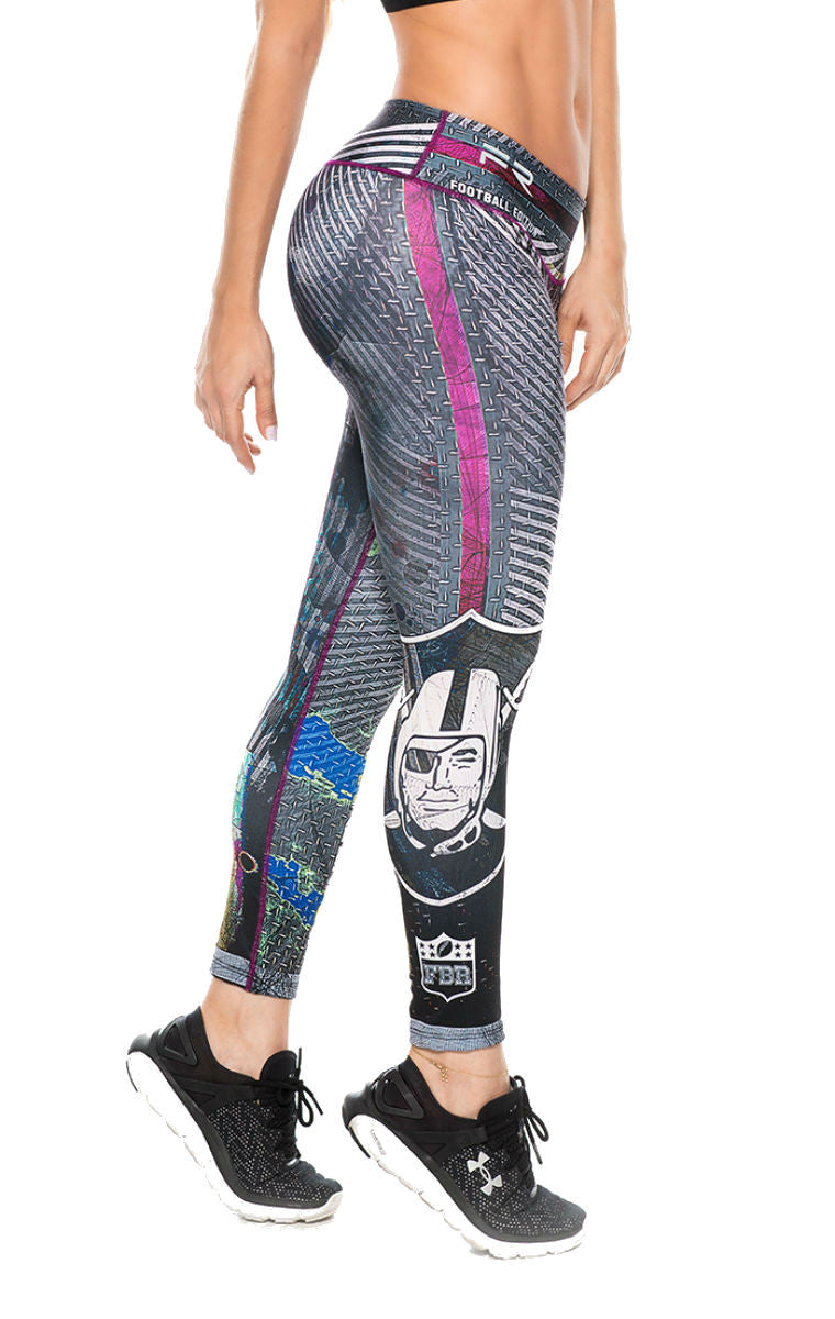 Fiber - Oakland Raiders Leggings - Roni Taylor Fit  - 2