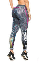 Fiber - Oakland Raiders Leggings - Roni Taylor Fit  - 3