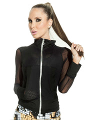 Fiber - Black Mesh Jacket - Roni Taylor Fit