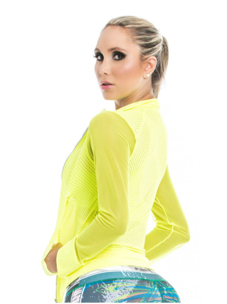 Fiber - Neon Yellow Mesh Jacket - Roni Taylor Fit