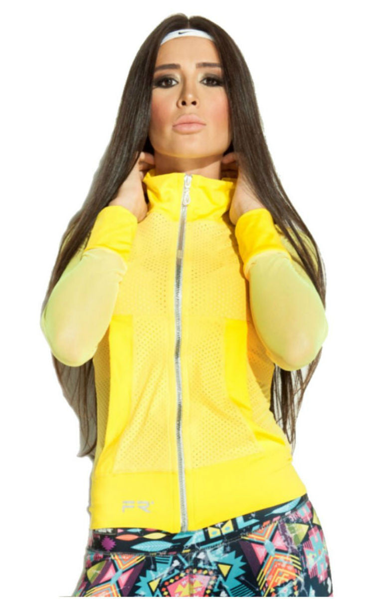 Fiber - Yellow Mesh Jacket - Roni Taylor Fit