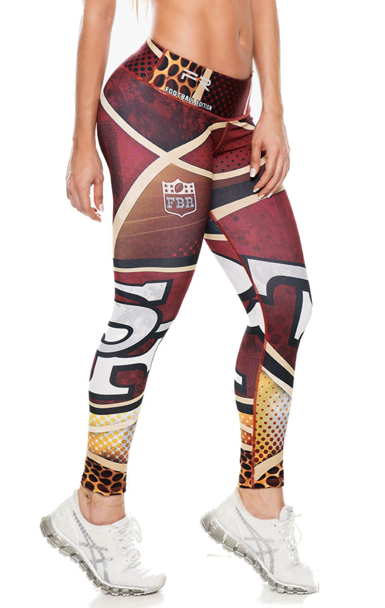 Fiber - San Francisco 49'ers Leggings - Roni Taylor Fit  - 2