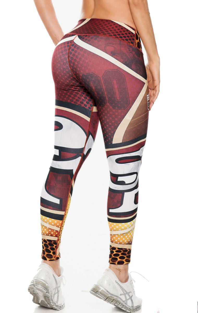 Fiber - San Francisco 49'ers Leggings - Roni Taylor Fit  - 3