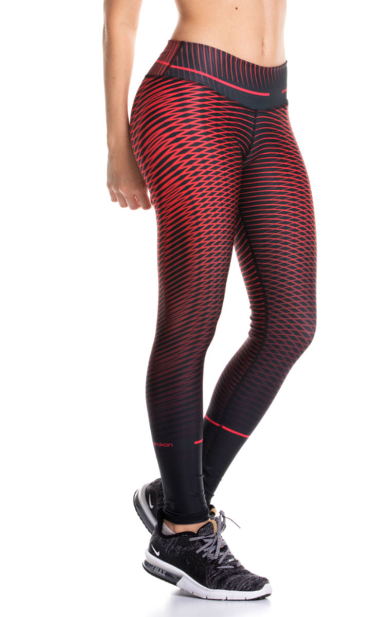 Drakon - SNAPPER RED Leggings