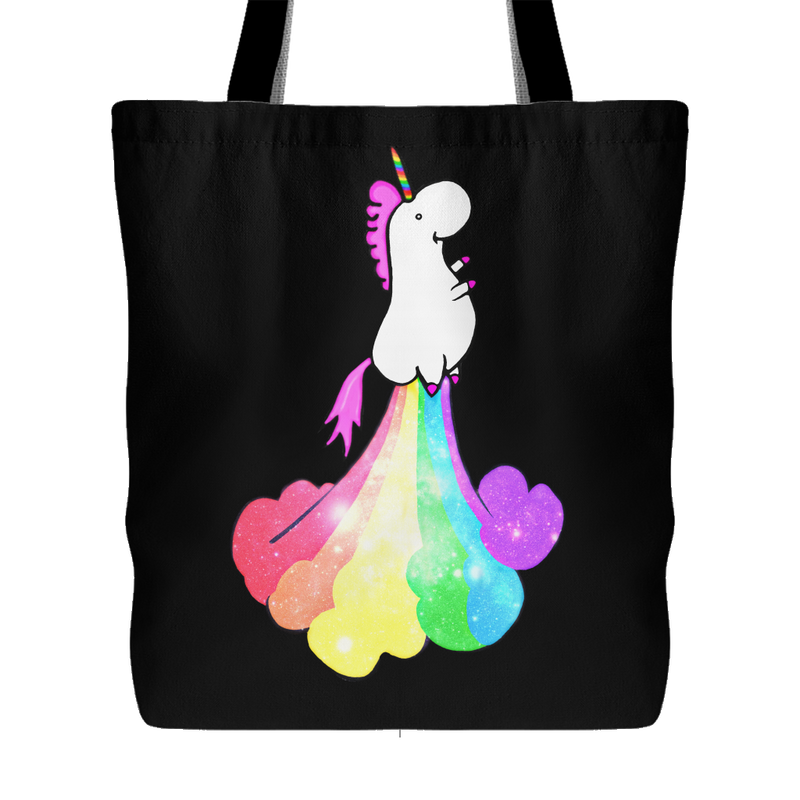 Rainbow Fart Unicorn Tote - 3 Colors