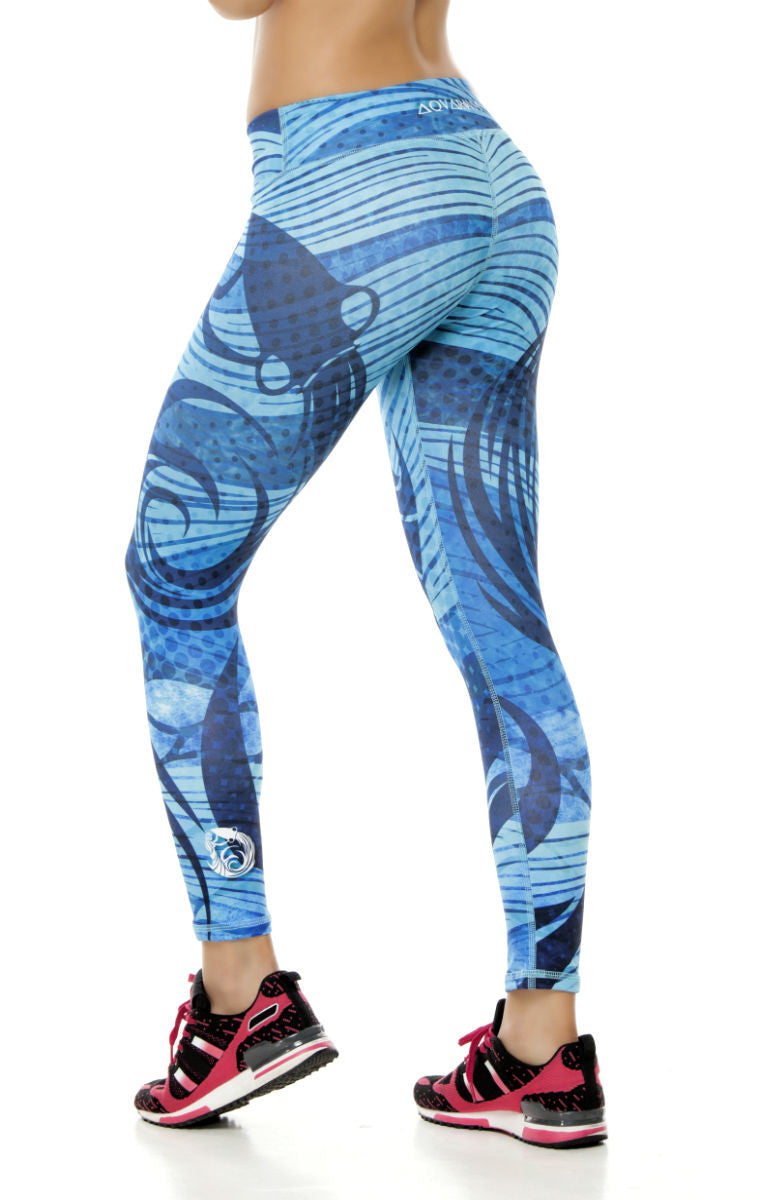 Zodiac - Aquarius Astrology leggings - Roni Taylor Fit  - 2