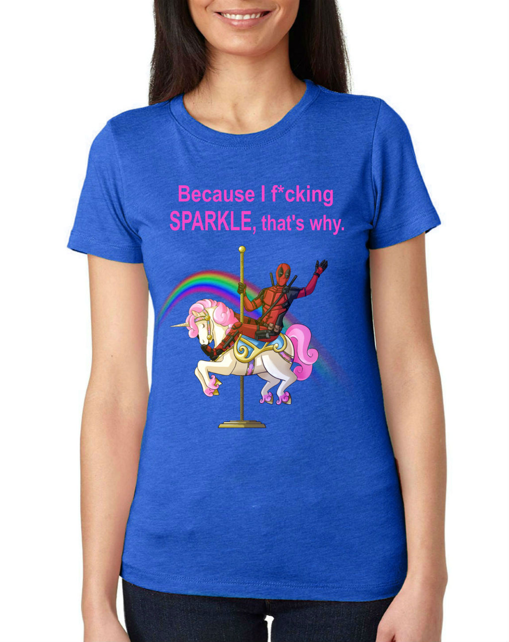 "DP Unicorn Funny T-Shirt ""Because I F*cking Sparkle"""