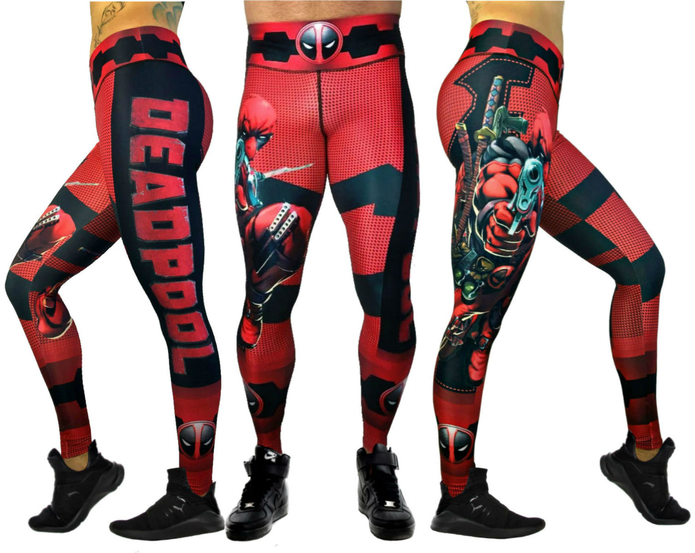 170921dedbf169 Exit 75 Deadpool Red Leggings – His and Hers Athletics
