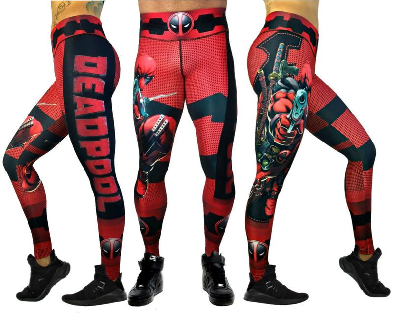 Exit 75 Deadpool Red Leggings