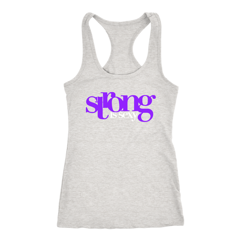 Strong Is Sexy 1 (Purple) Tank Top