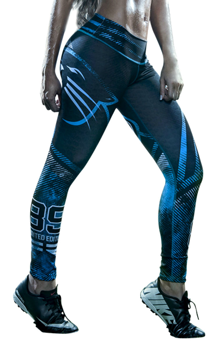 Fiber - Carolina Panthers Leggings - Roni Taylor Fit