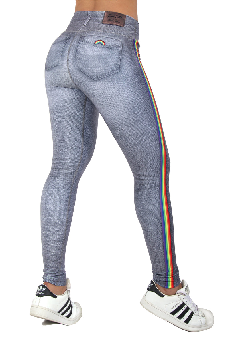 FP - Rainbow Grey Jean Leggings