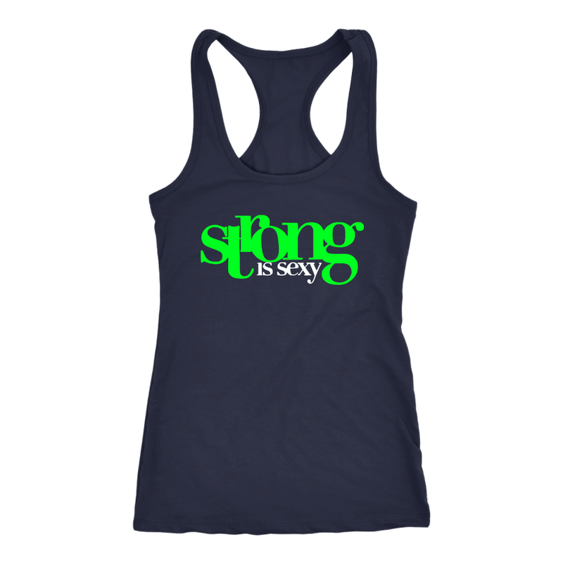 Strong Is Sexy 1 (Green) Tank Top