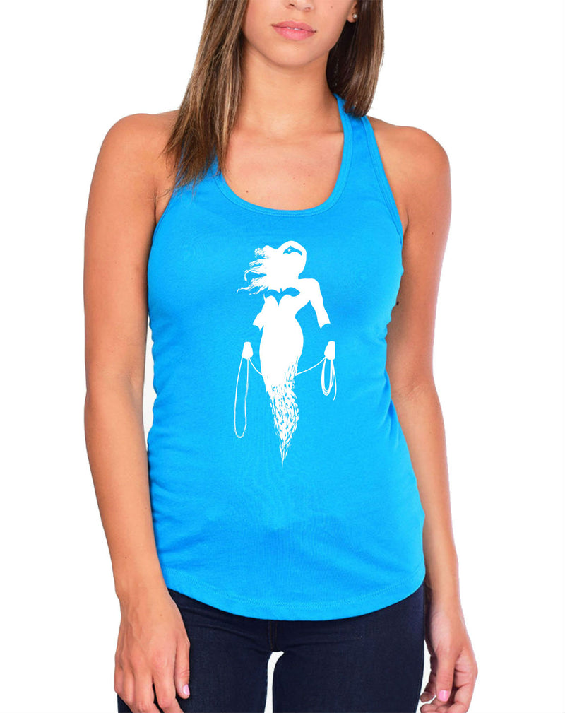 WW Cut Out White Tank Top