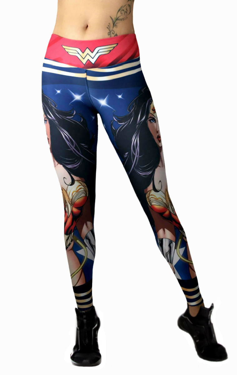 Exit 75 - Wonder Woman Leggings  His And Hers Athletics-8928