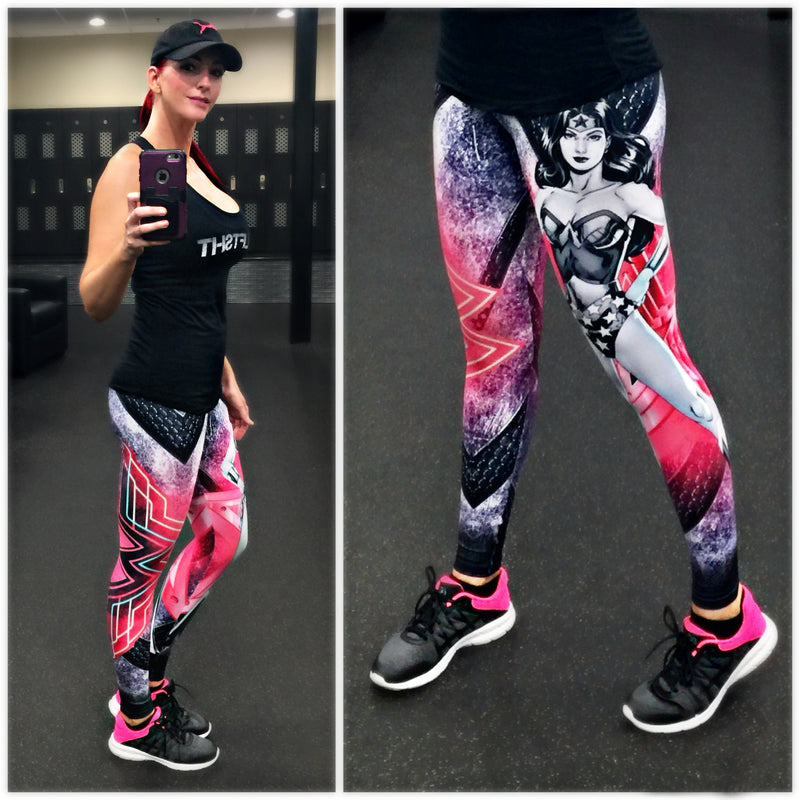 Exit 75 - Wonder Woman Pink Leggings