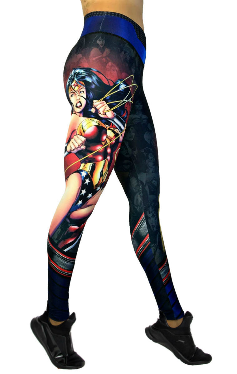 Exit 75 - Wonder Woman Black Leggings