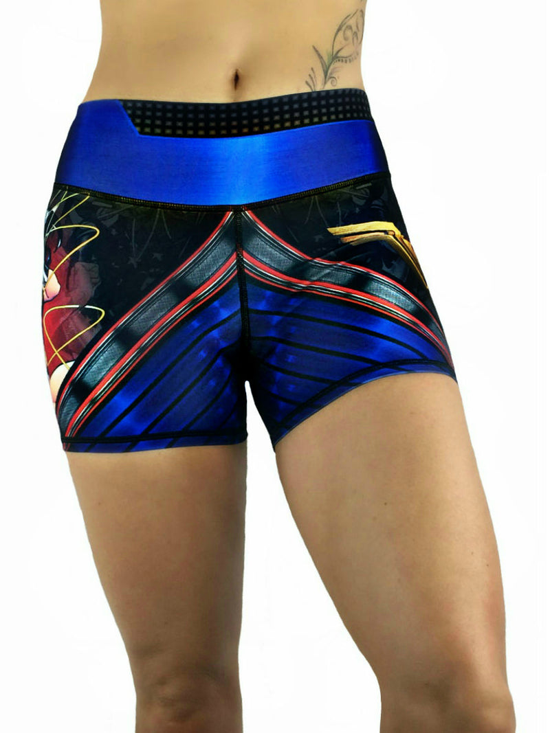 Exit 75 - Wonder Woman Black Shorts