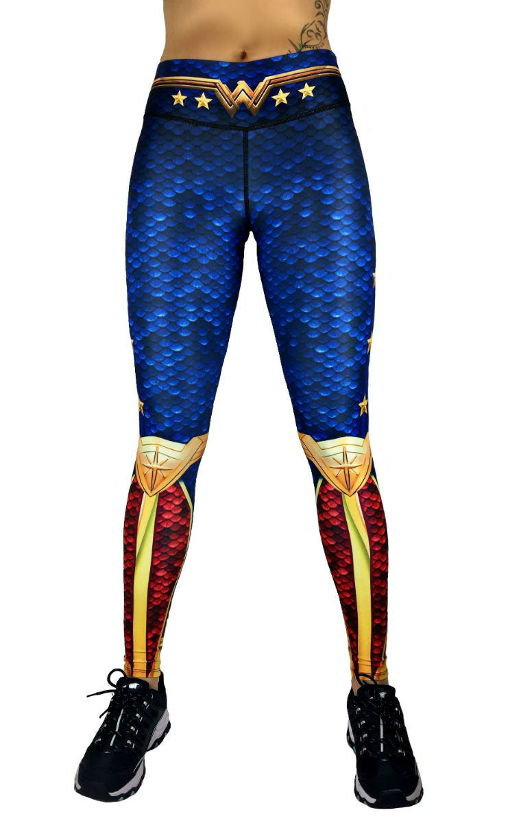 Exit 75 - Wonder Woman Blue Leggings