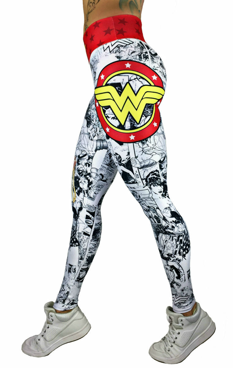 Exit 75 - Wonder Woman White Leggings
