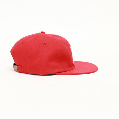 HUF Classic H 6 Panel Snapback - Red