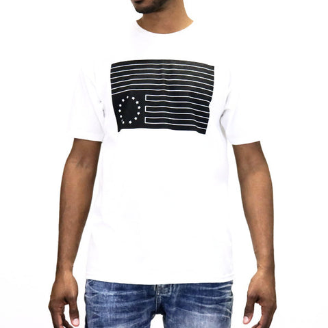 Black Scale Dark Rebel T-Shirt - White