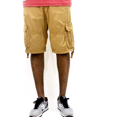 Jordan Craig Lightweight Garment Dyed Cargo Shorts  - Wheat