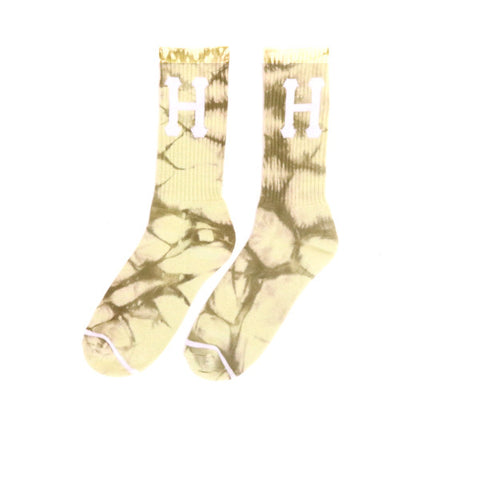 HUF Crystal Wash H Sock - Gold