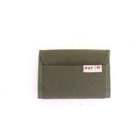 HUF Trifold Wallet - Olive