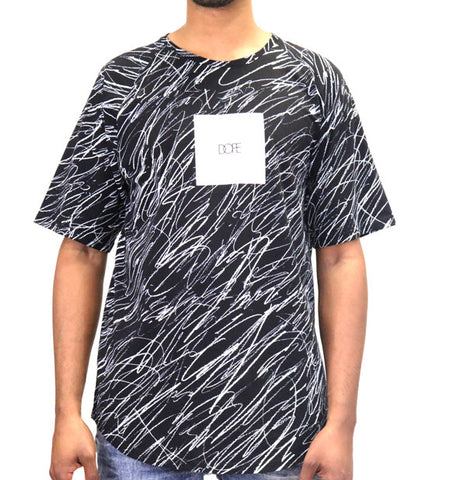 DOPE Concentric Square Logo Tee T-Shirt - Black