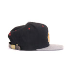 Chicago Blackhawks Strapback Hat - Black/Gray