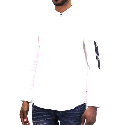 EPTM MA-1 Button Up Shirt - White