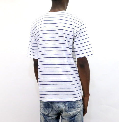 Undefeated Stripe Pocket S/SL T-Shirt - White