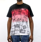 Staple Pigeon Map Dip Dye T-Shirt - Black