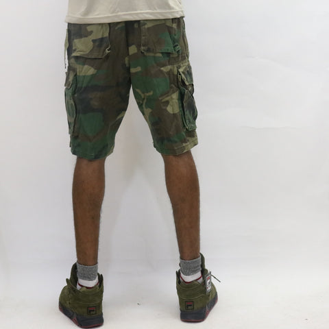 Rothco Vintage Paratrooper Shorts - Woodland Camo