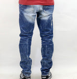 Jordan Craig Washed and Repaired Jeans - Arctic Wash