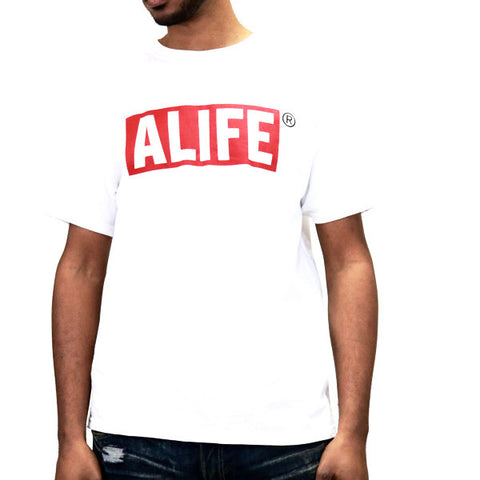 ALIFE Box Logo T-Shirt - White