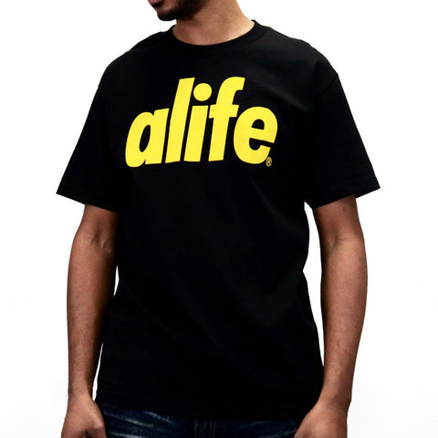 ALIFE Core Life T-Shirt - Black/Gold