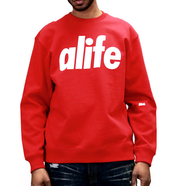 ALIFE Core Life Crew Sweatshirt - Red