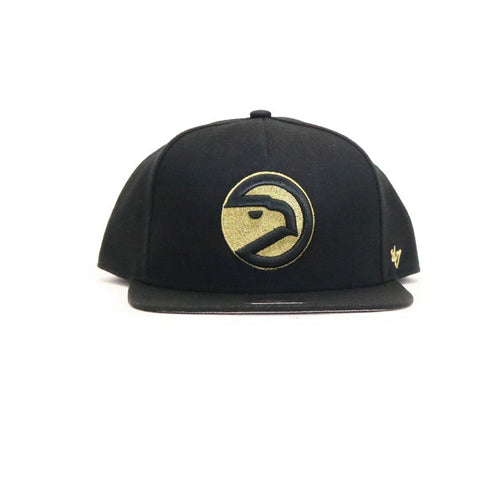 Atlanta Hawks Metallic Elephant Snapback Hat - Black