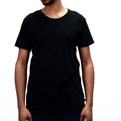EPTM Long Basic Square Bottom Basic T-Shirt - Black