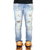 Crysp Denim Montana Ripped Denim Jeans - Blue
