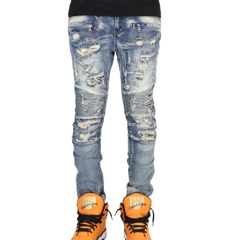 Embellish Strangler Denim Jeans - Stone Wash