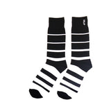 HUF Striped Crew Sock - Black / White
