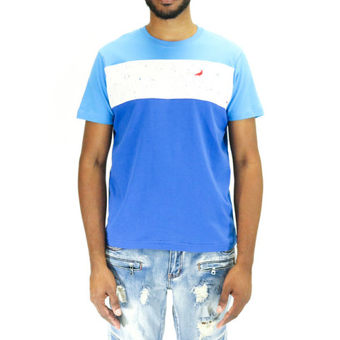 Staple Pigeon Fleck Block Tee Shirt - Blue