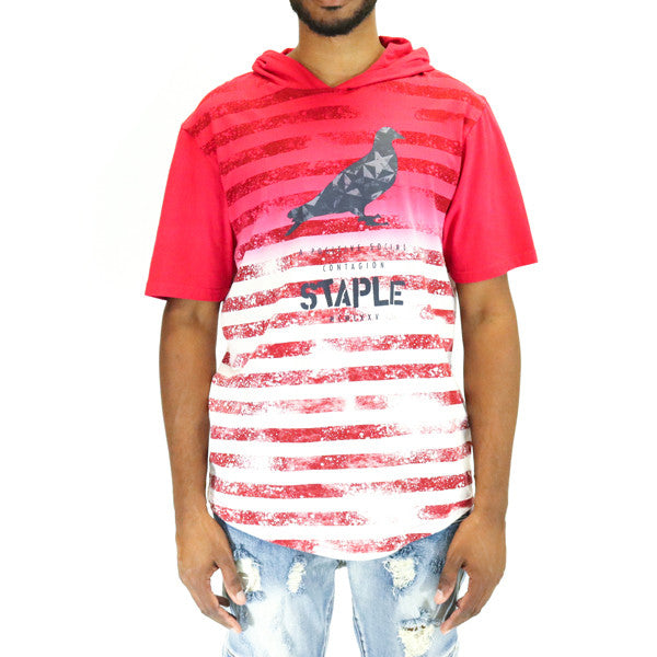 Staple Pigeon New World Hooded Tee - Red