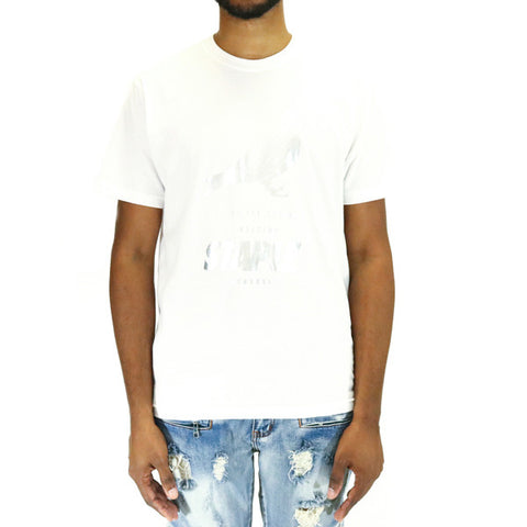 Staple Pigeon Foil Pigeon Tee Shirt - White/Silver