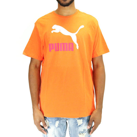 Puma Archive Life Tee T-Shirt - Orange/White/Vivacious